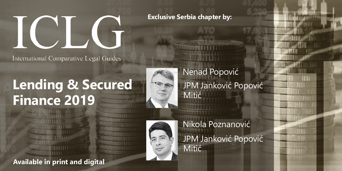 JPM contributed in ICLG : Lending & Secured Finance 2019